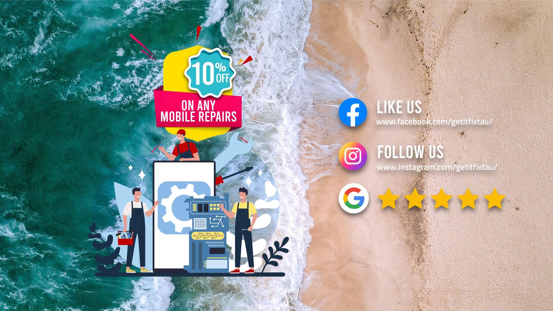 10% off on any repairs   Mobile Phone Repairs Bondi Beach