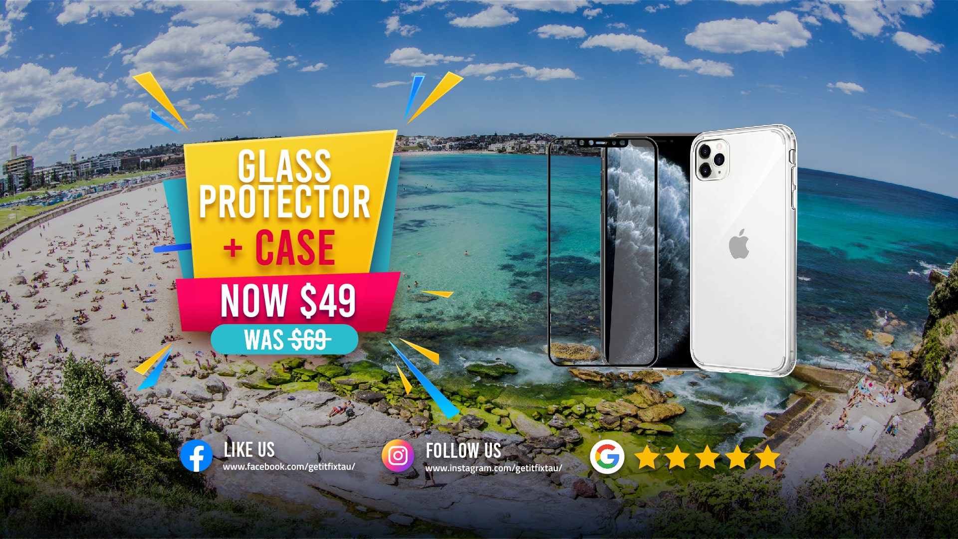 Glass Protector + Case   Mobile Phone Case Near me