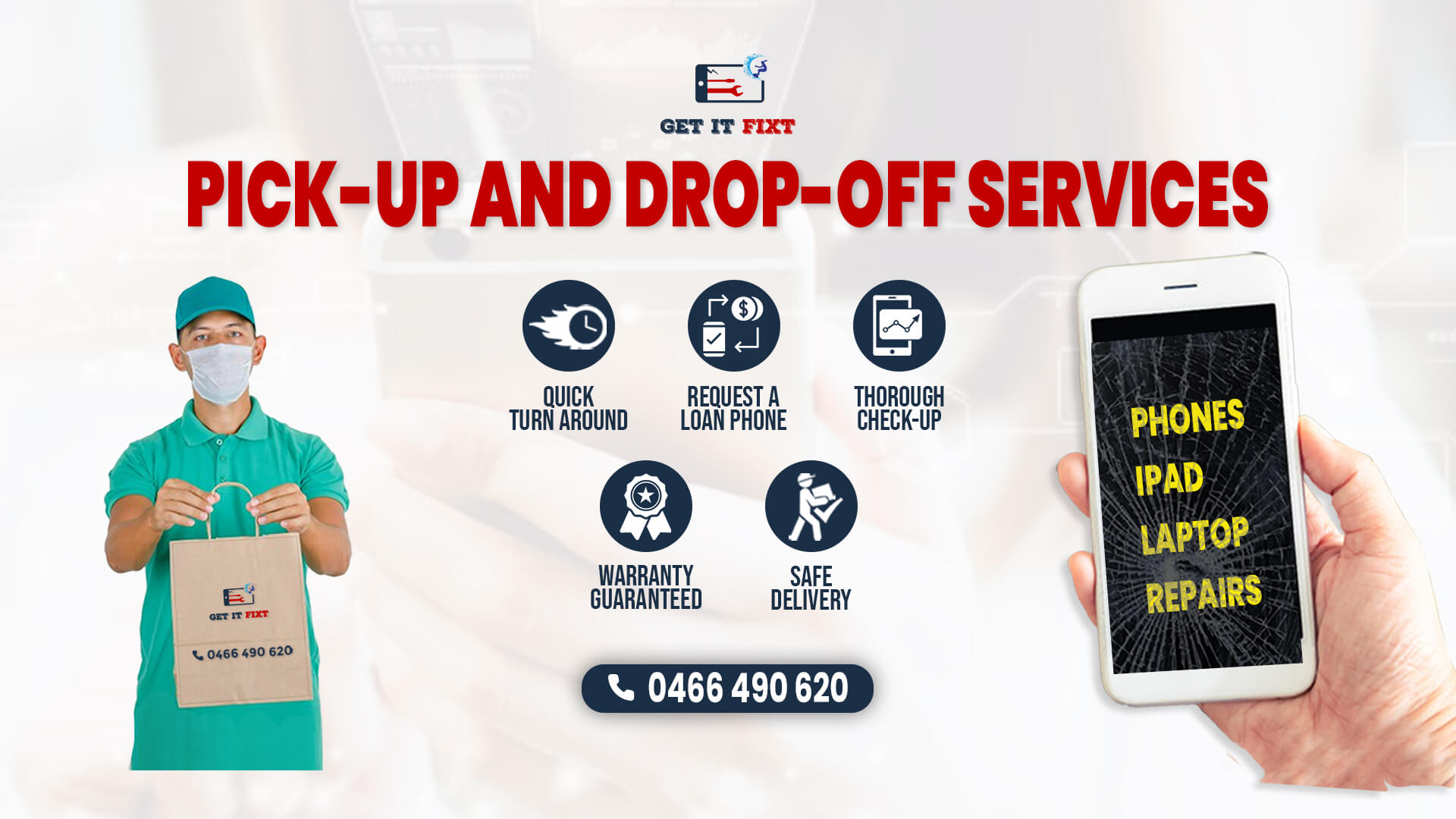 Pick-up- and Drop-off- Services   Mobile Phone Repairs Near Me